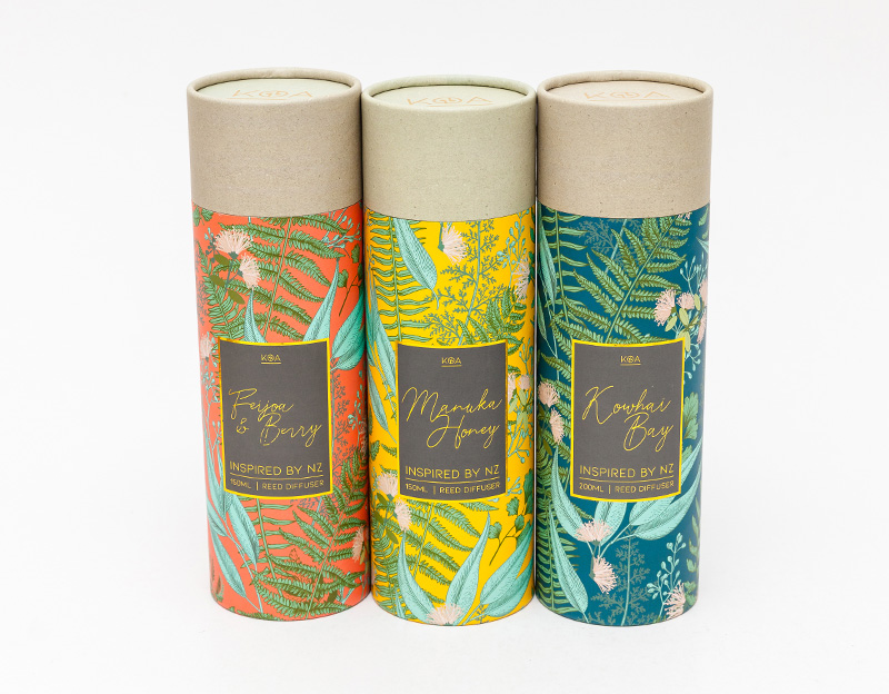 Eco-friendly Candle/Accessorie/Cosmetic/CBD Oil with Delicate Gold Foil Luxury Paper Tube Cylinder Packaging