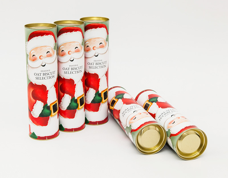 Bespoke Tin Insert Cylinder Paper Food Cookies Packaging